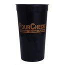 PourCheck Black Stadium Cup - 32 ounce