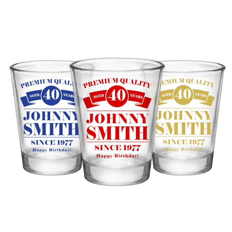 CUSTOMIZABLE Clear Shot Glass - Premium Quality - 1.75oz