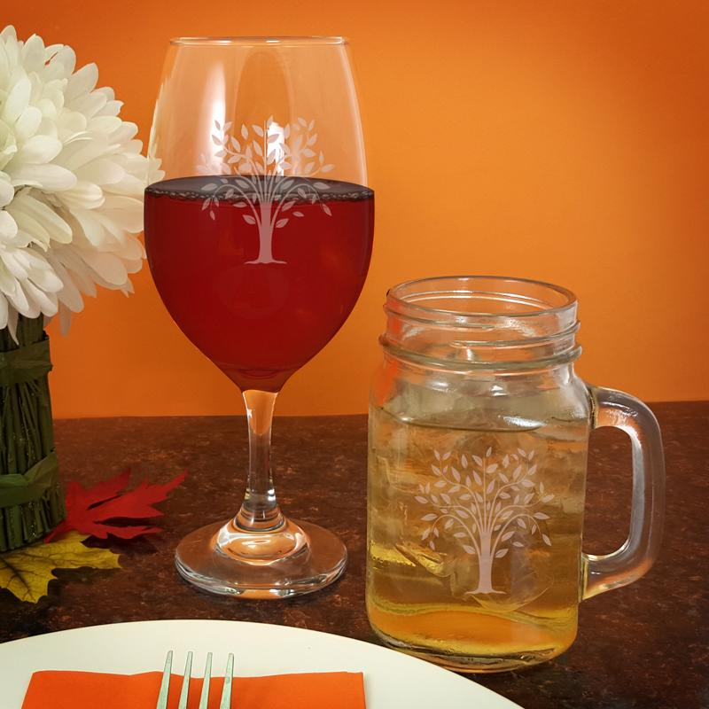 Tree Engraved BarConic® Glassware Set