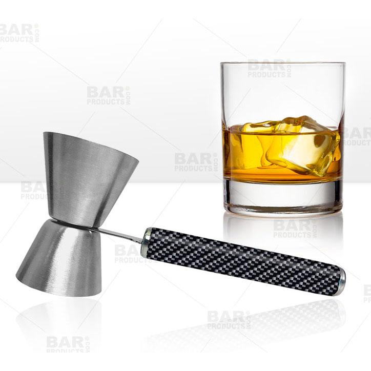 Jigger with Printed Handle Design - Carbon Fiber