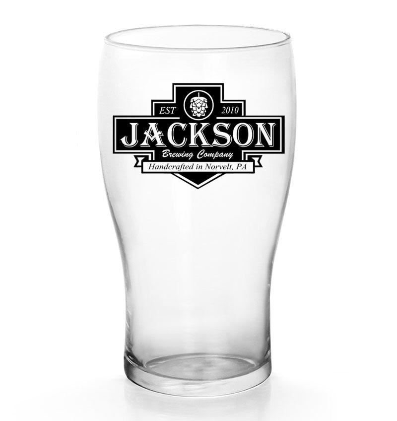 CUSTOMIZABLE - 20oz Imperial Pub Glass  - Brewing Company Badge