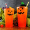 Neon Orange Polycarbonate Cup - Classic Jack O'Lantern - 2 Sizes Available
