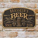 "CUSTOMIZABLE Cast Aluminum Plaque - ""Arch"" Quality Crafted Beer"