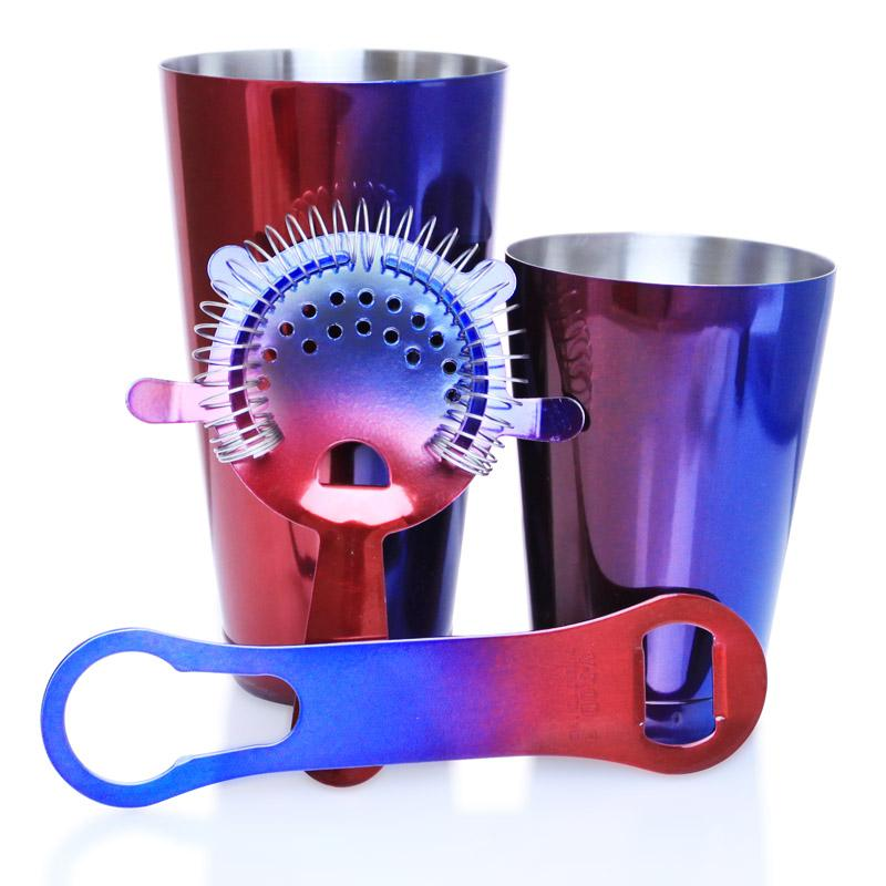 4 Piece Color Fusion Bartending Set