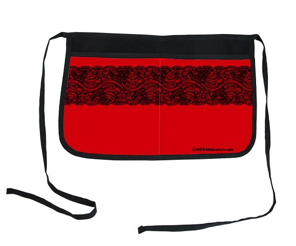 Red Lace Two-Pocket Kolorcoat™ Server Apron