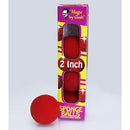 """Bar Magic"" – Red Sponge Balls – Packs of 4 - 1.5"" Diameter"