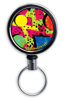 Mirrored Chrome Retractable Reel - Colorful Elements