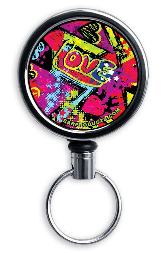 Mirrored Chrome Retractable Reel - Grungy Love