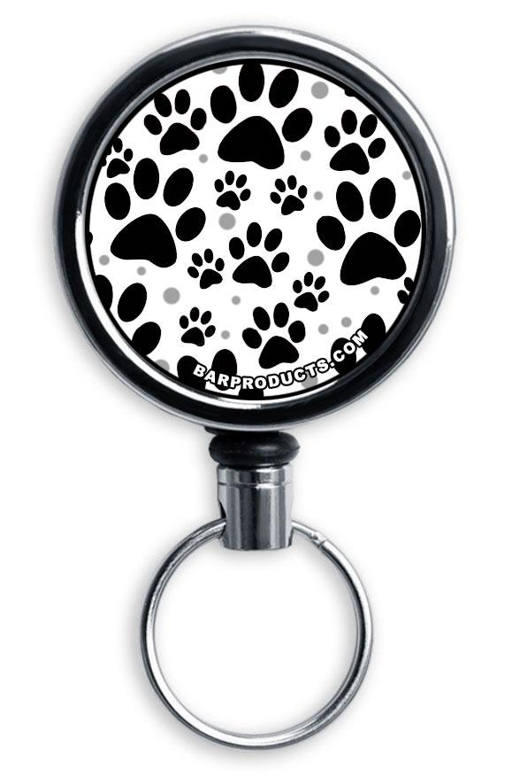 Mirrored Chrome Retractable Reel - Puppy Love