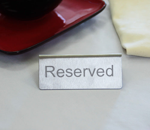 Stainless Steel Tabletop Reserved Sign
