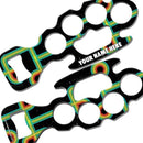 ADD YOUR NAME Knuckle Buster Bottle Opener - Abstract Retro