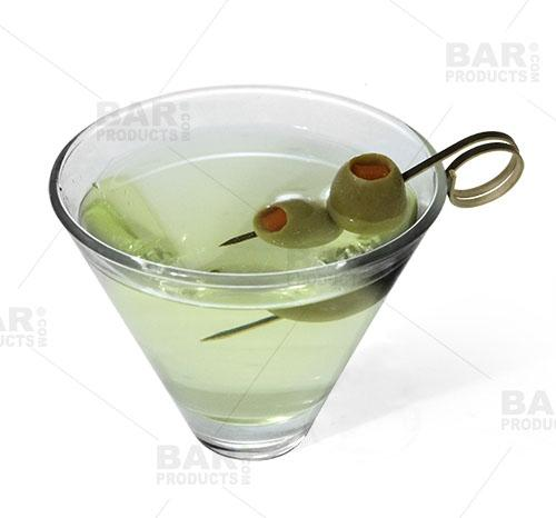 BarConic® Ring Bamboo Cocktail Pick Kit with Display Stand