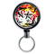 Mirrored Chrome Retractable Reel - Rock Star Red
