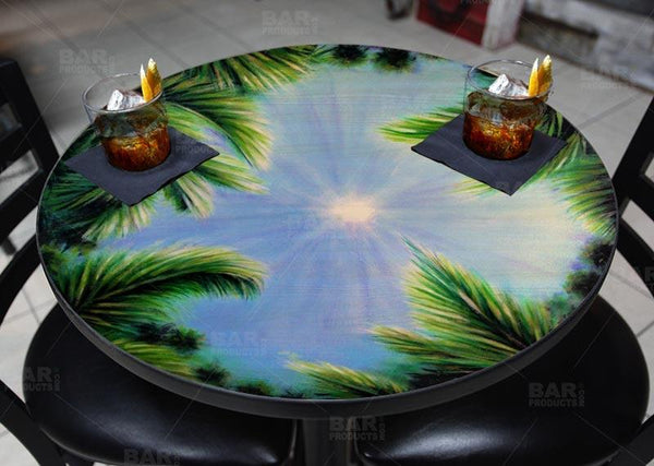 Round Wooden Table Top - Two Sizes Available - Sky and Trees