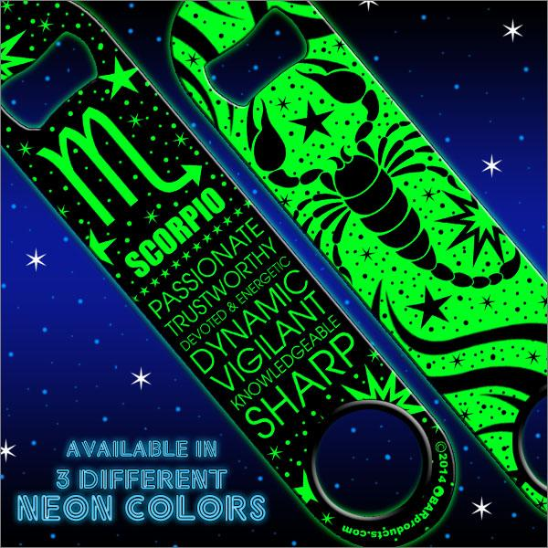 Kolorcoat™ NEON Zodiac Speed Bottle Opener - SCORPIO