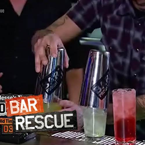Weighted Cocktail Shaker- BarProducts Logo on Bar Rescue