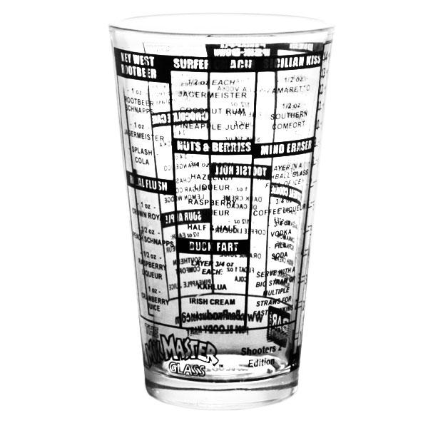 Shooters 2 Recipe Mxing Pint Glass