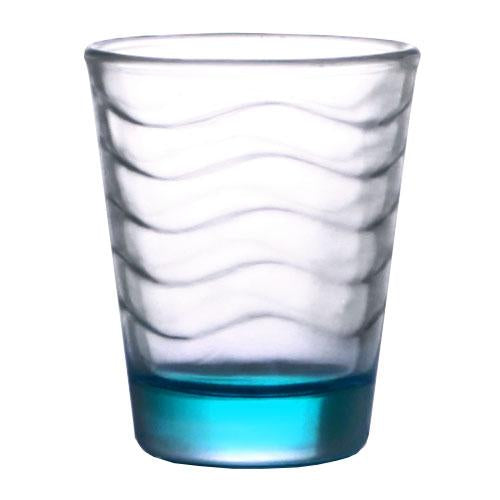 BarConic® 1.75oz Blue/Teal Wave Shot Glass