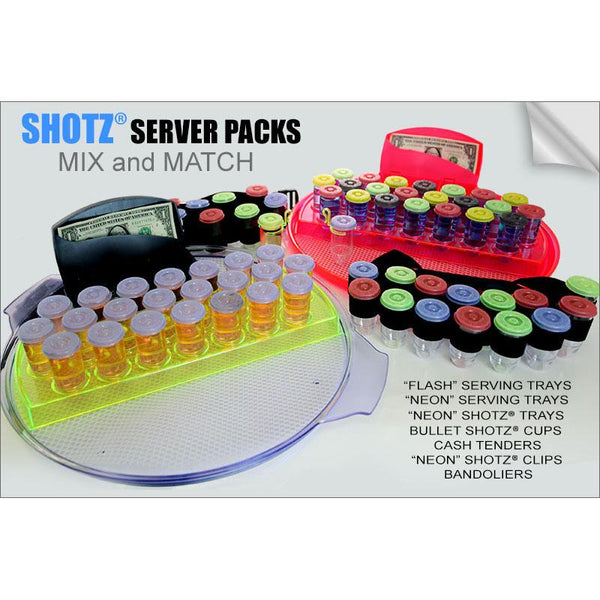 SHOTZ® Server Packs – MIX and MATCH