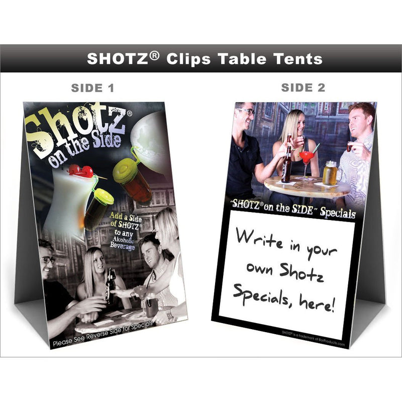 SHOTZ® Clips - Table Tent
