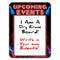 "Upcoming Events - Dry Erase 9"" x 12"" Metal Bar Sign - Neon Themed"