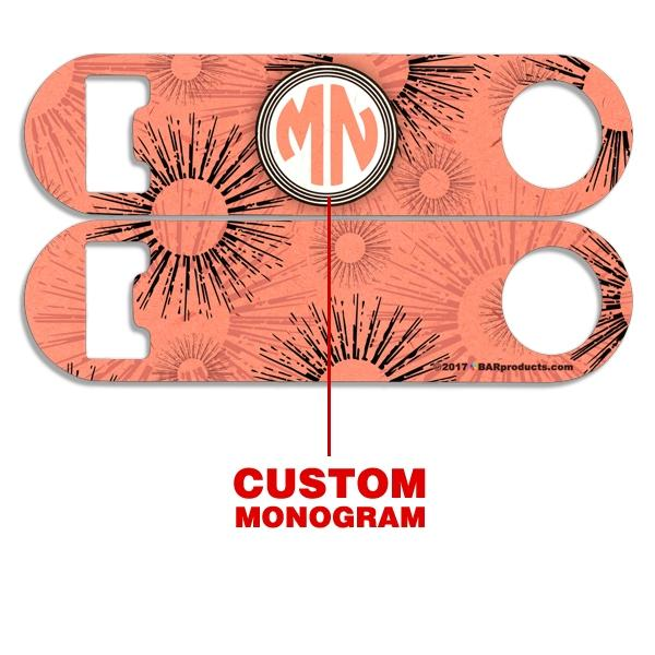 CUSTOMIZABLE Skinny Mini Bottle Opener - Monogram Sunburst