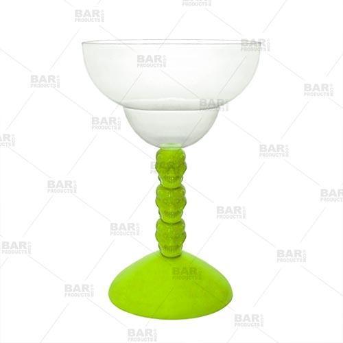 Skull Margarita Glass - Plastic 10 oz - Assorted Colors