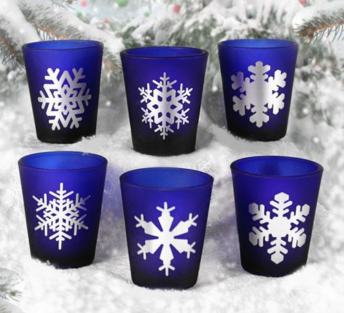 1.5oz Snowflakes Shots Glass Set