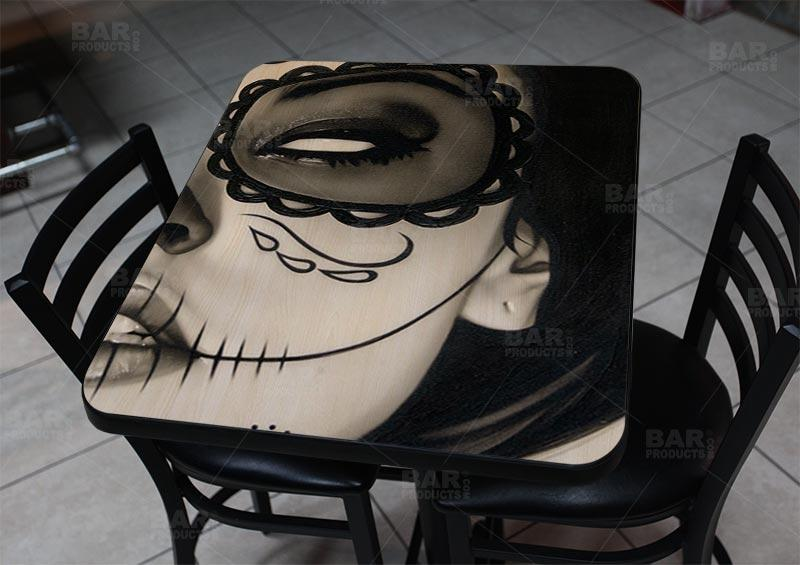 "Sophia la Muerta 24"" x 30"" Wooden Table Top - Two Types Available"