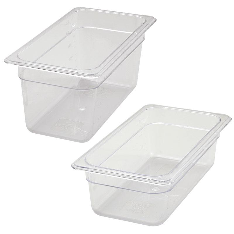 1/3 Size Clear Polycarbonate Food Pan (Various Sizes)