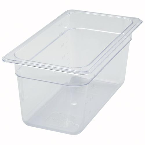 "1/3 Size Clear Polycarbonate Food Pan - 6"" Deep"