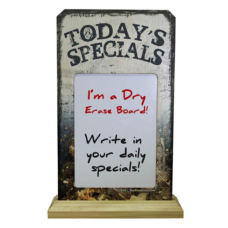 KolorCoat™ Wood Plaque Dry Erase Sign - Today's Specials