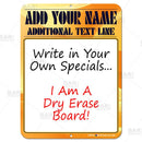 "9"" x 12"" Specials Dry Erase Bar Sign"