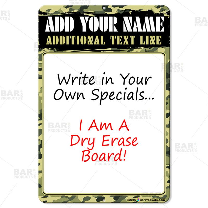 "12"" by 18"" Dry Erase Specials Sign"