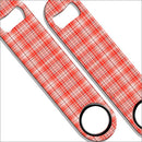 Speed Bottle Opener - Orange Plaid