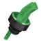 Square Tip Screened Pourer - Green