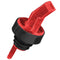Square Tip Screened Pourer - Red