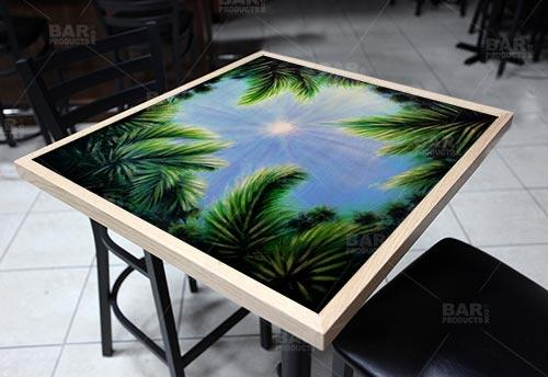 Sky and Trees Square Wooden Table Top - Two Sizes Available