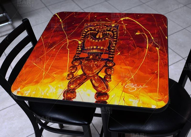 Tiki Hot Lava Square Wooden Table Top - Two Sizes Available