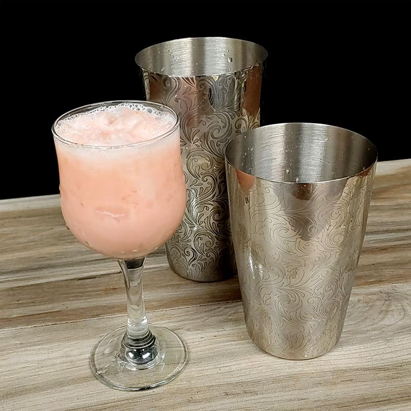 BarConic® Etched Shaker Set - Stainless Steel - 28oz and 18oz Shaker Tins