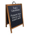 A-Frame Sidewalk Chalkboard Sign – Double Sided - Stained Wood Frame