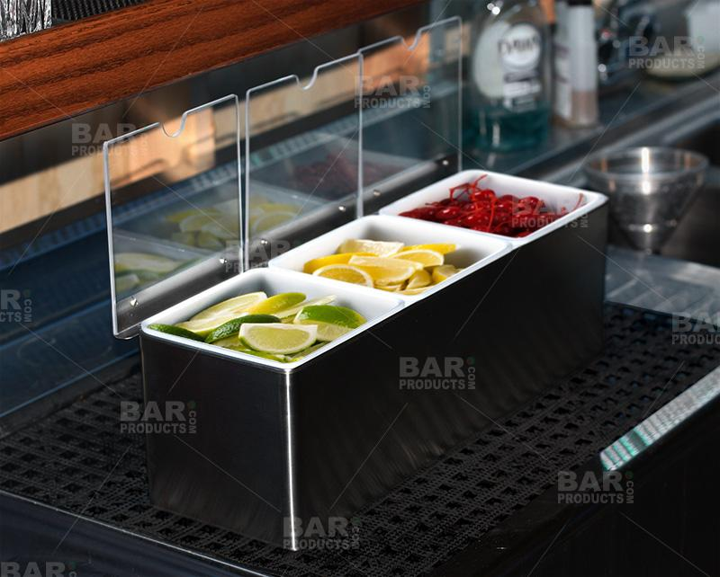 BarConic® Stainless Steel Condiment Holder - 3qt