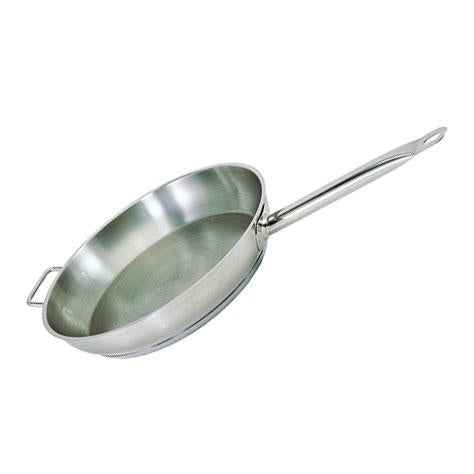 Natural Finish Stainless Steel Fry Pans