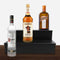 Wooden Liquor Shelves - 2 Tier - BLACK