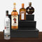 Wooden Liquor Shelves - 3 Tier - BLACK