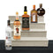 Wooden Liquor Shelves - 4 Tier - NATURAL