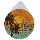 ADD YOUR NAME - Custom Glass Rimmer Lid - Sunset Design