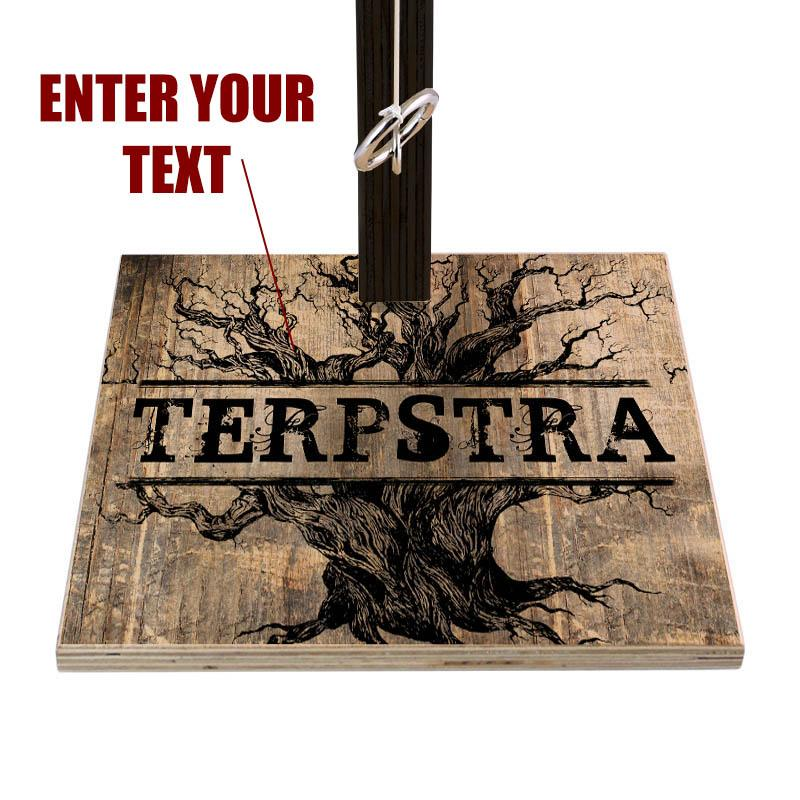 Customizable Tabletop Ring Toss Game - Rustic Tree