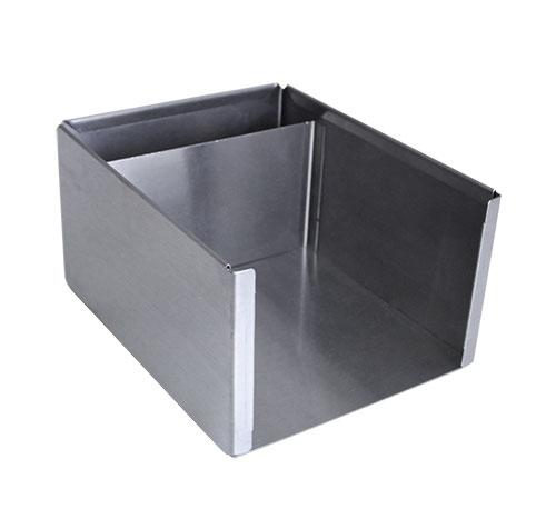 Square Stainless Steel Napkin Holder - ANGLE VIEW