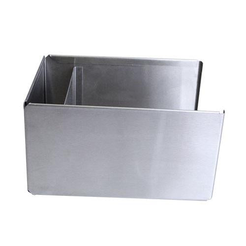 Square Stainless Steel Napkin Holder - SIDE VIEW